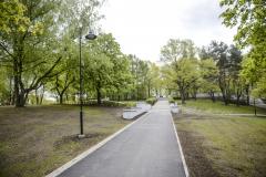Turpinās rekonstrukcija Grīziņkalna parkā un Ziedoņdārzā 13.05.2015.