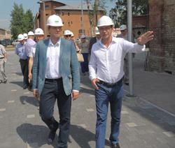 N.Ušakovs apmeklējis Spīķerus un Daugavas promenādi