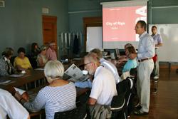 Linčēpingas pilsētas pašvaldības darbinieku – senioru delegācija viesojas Rīgā