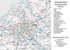Izstrādāts stāvparku sistēmas attīstības plāns