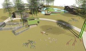 """Līdz gada beigām plānots noslēgt būvprojekta izstrādi """"Āfrikas savannas"""" projektam"""