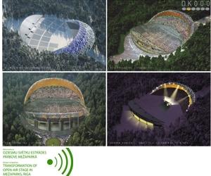 Noskaidrots Mežaparka Lielās estrādes rekonstrukcijas konkursa uzvarētājs