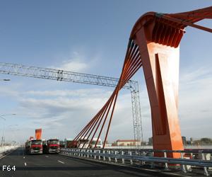 Tika veikta Dienvidu tilta slodzes pārbaude