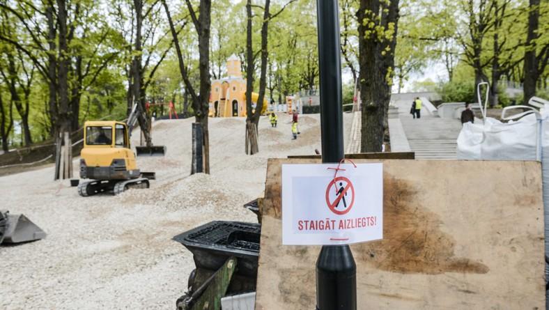 Rīgas domes priekšsēdētājs pārbaudīs rekonstrukcijas darbu gaitu Grīziņkalna parkā un Ziedoņdārzā