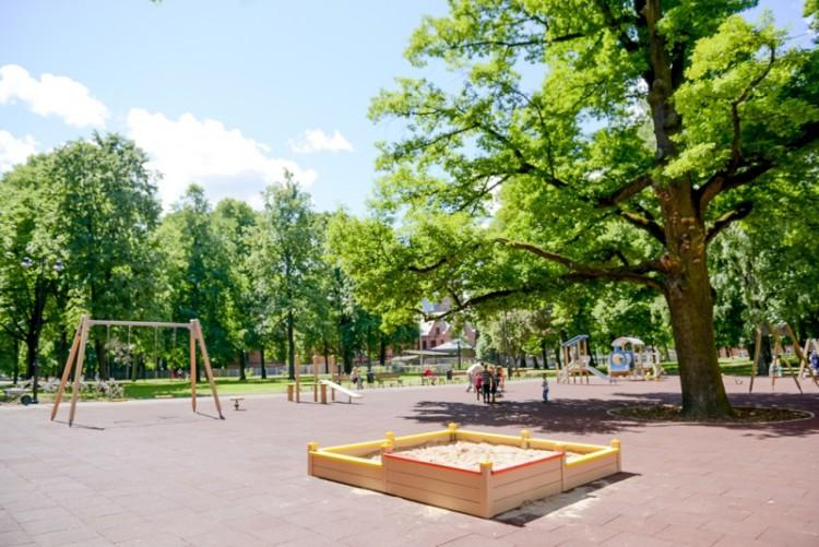 Atklāts rekonstruētais Miera dārzs