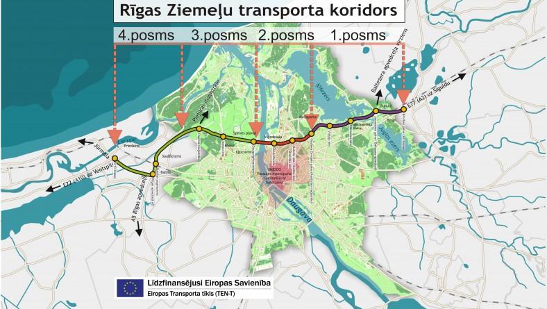 Izstrādāts Rīgas Ziemeļu transporta koridora 1.posma tehniskā projekta 2.starpziņojums