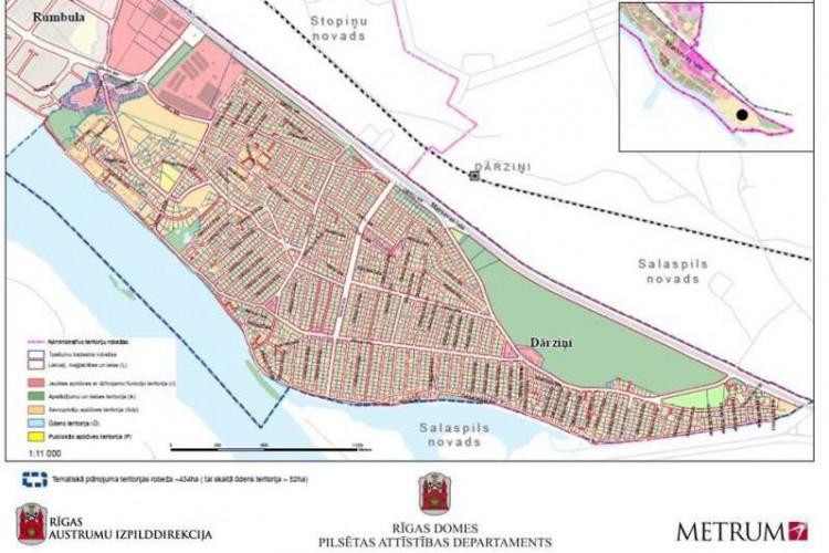 Paziņojums par Dārziņu apkaimes publiskās infrastruktūras attīstības tematiskā plānojuma izstrādes uzsākšanu