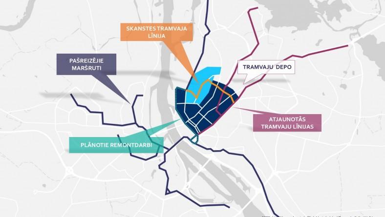 Paziņojums ar ietekmes uz vidi novērtējumu paredzētajai darbībai – jaunas tramvaja līnijas būvniecībai un esošo tramvaju līniju posmu pārbūvei Rīgā, Rīgas vēsturiskā centra rajonā un Skanstes apkaimē