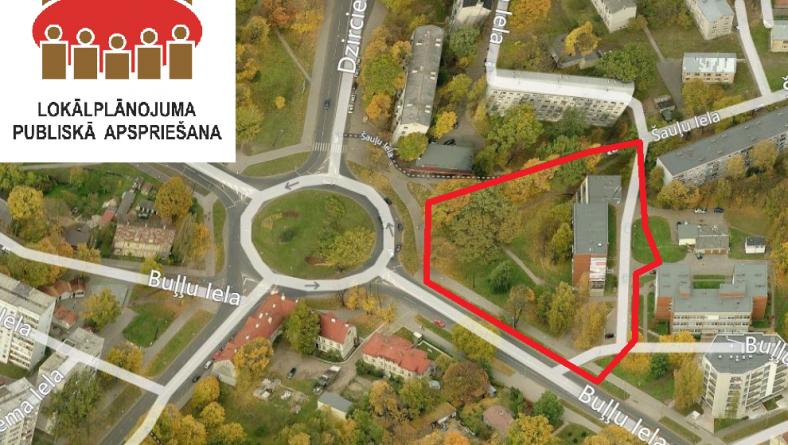 Izsludina publisko apspriešanu zemesgabala Buļļu ielā 9, Rīgā lokālplānojumam