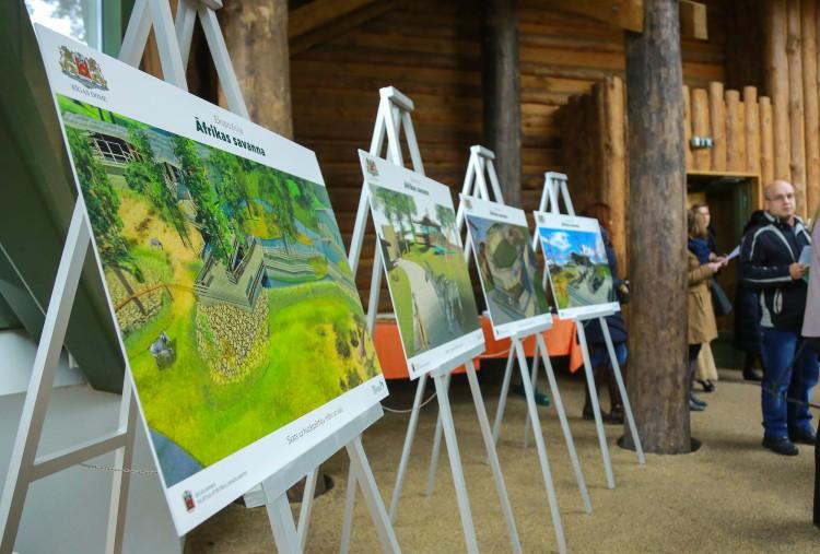 """Līdz Latvijas simtgadei Rīgas zoodārzā plānots uzbūvēt vērienīgu ekspozīciju """"Āfrikas savanna"""""""