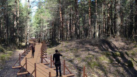 """Antropogēno slodzi mazinošas infrastruktūras izbūve un rekonstrukcija dabas parkā """"Piejūra"""" (Natura 2000 vieta)"""