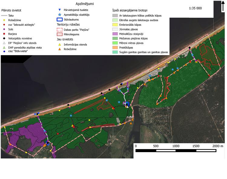 """Centrālā  finanšu un līgumu aģentūra  ir apstiprinājusi ar nosacījumu Rīgas domes Pilsētas attīstības departamenta projektu """"Antropogēno slodzi mazinošas infrastruktūras izbūve un rekonstrukcija dabas parkā """"Piejūra""""  (Natura 2000 vieta)"""""""