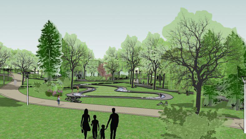 Aldara parka pārbūves būvprojekts veiksmīgu risinājumu tapšanas stadijā