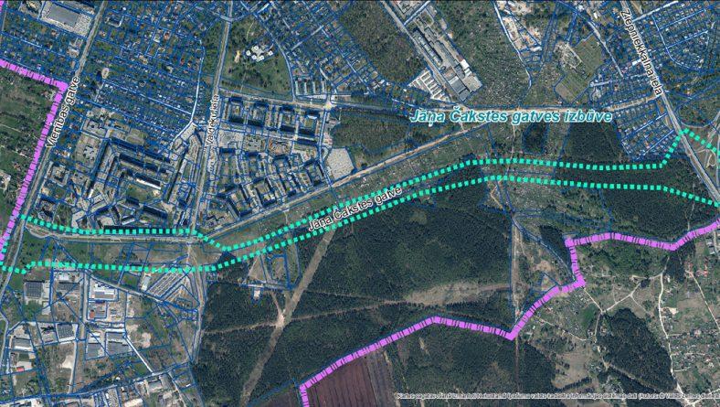 """Paziņojums par sākotnējā IVN procedūras piemērošanu projekta """"Zemgales virziena maģistrālais transporta mezgls. I un II kārta – Jāņa Čakstes gatves izbūve no Vienības gatves līdz Ziepniekkalna ielai"""" realizācijai"""