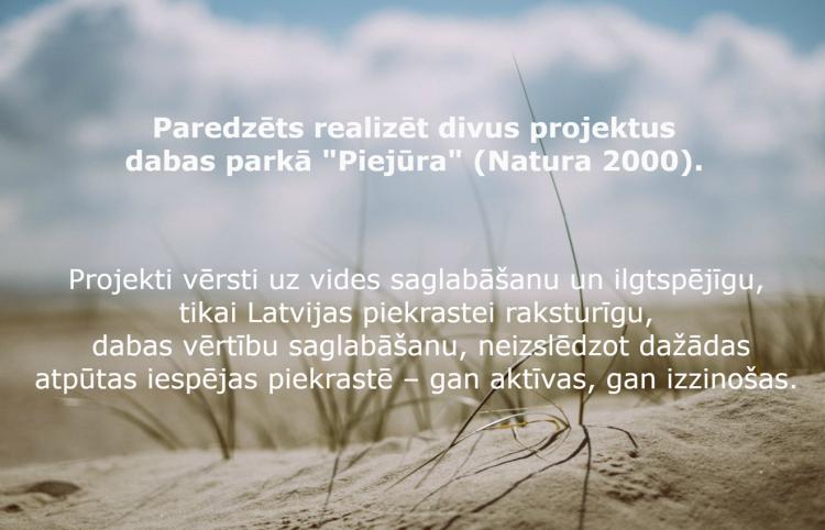 """Dabas parkā """"Piejūra"""" gaidāmas vērtīgas, vidi saglabājošas pārmaiņas"""