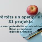 Izvērtēts un apstiprināts 31 projekts ēku energoefektivitātes veicināšanai Rīgas pirmsskolas izglītības iestādēs