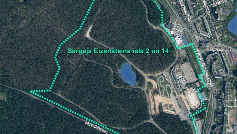 Par sākotnējā IVN veikšanu paredzētajai darbībai Sergeja Eizenšteina ielā 2 un 14, Rīgā