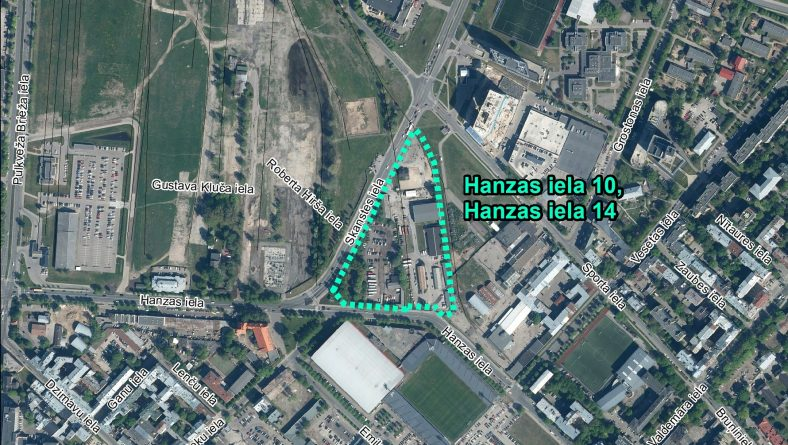 Par IVN nepiemērošanu ierosinātajai darbībai Hanzas ielā 10 un 14