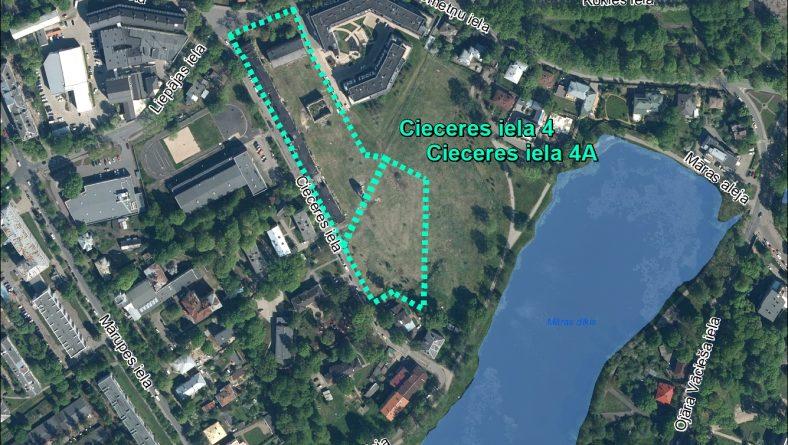 Par IVN nepiemērošanu ierosinātajai darbībai Cieceres ielā 4 un 4A, Rīgā