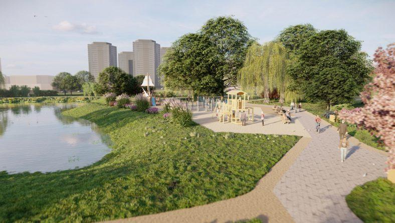 Skanstes apkaimē top daudzfunkcionāls jauns parks un Baltijā mūsdienīgākā lietus ūdens savākšanas sistēma