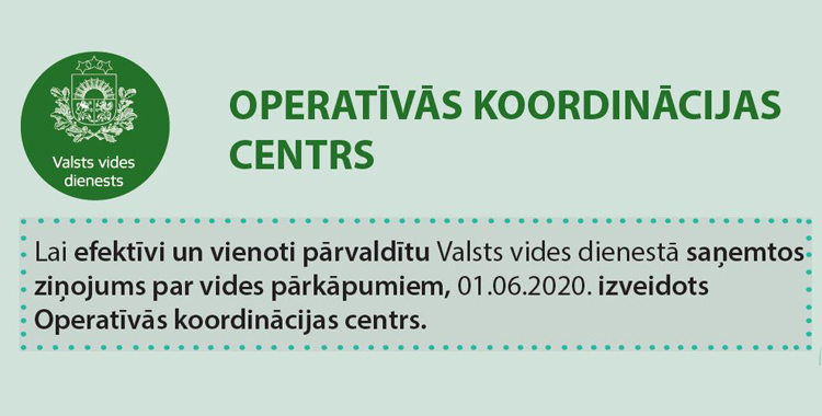 Par Operatīvās koordinācijas centra izveidi
