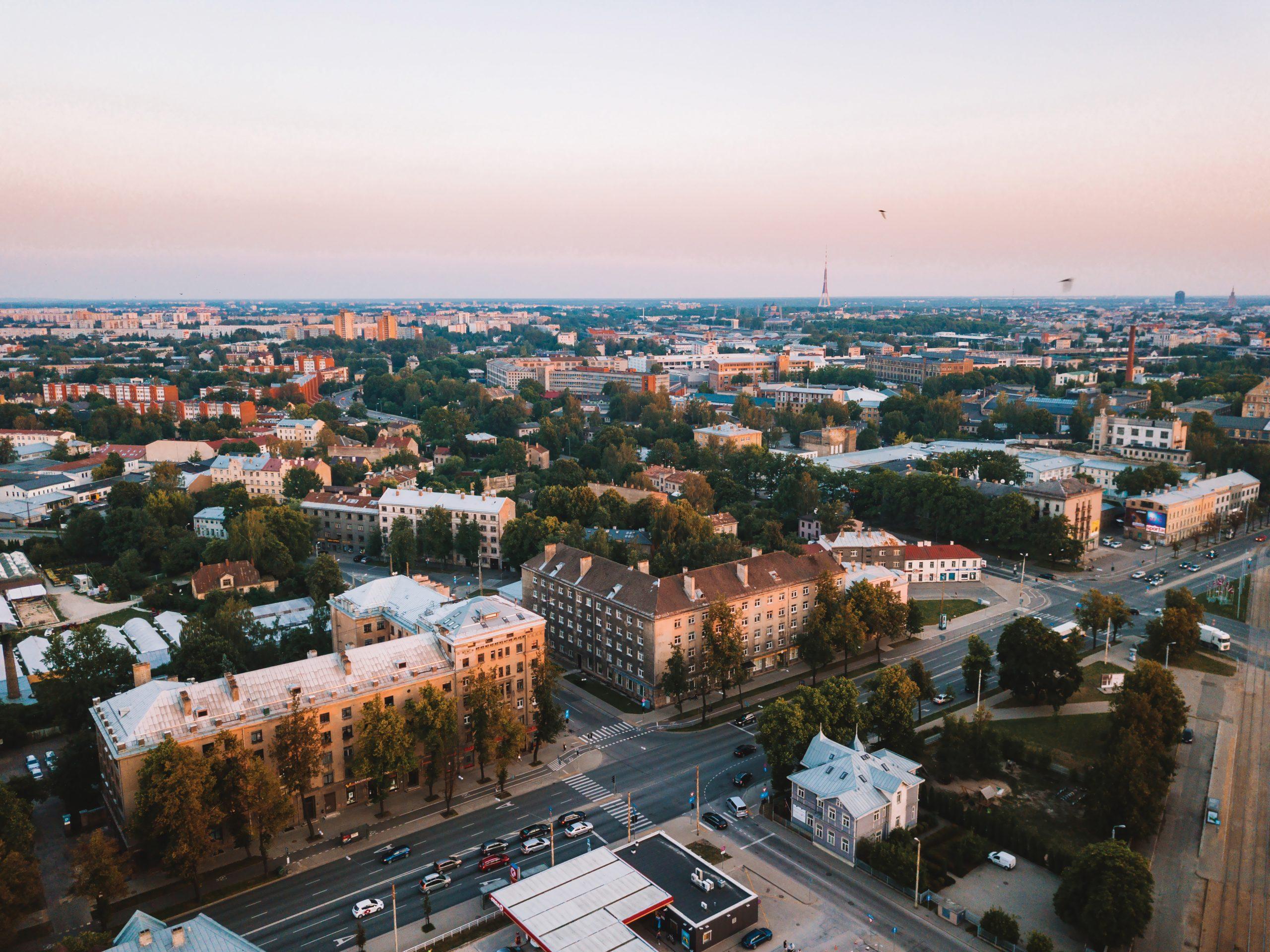 Rīga skats no augšas