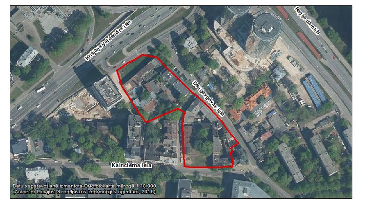Publiskai apspriešanai nodod zemesgabalu Krišjāņa Valdemāra ielā bez numura, Daugavgrīvas ielā 8 un 10,Kalnciema ielā 3 pilnveidoto lokālplānojuma redakciju