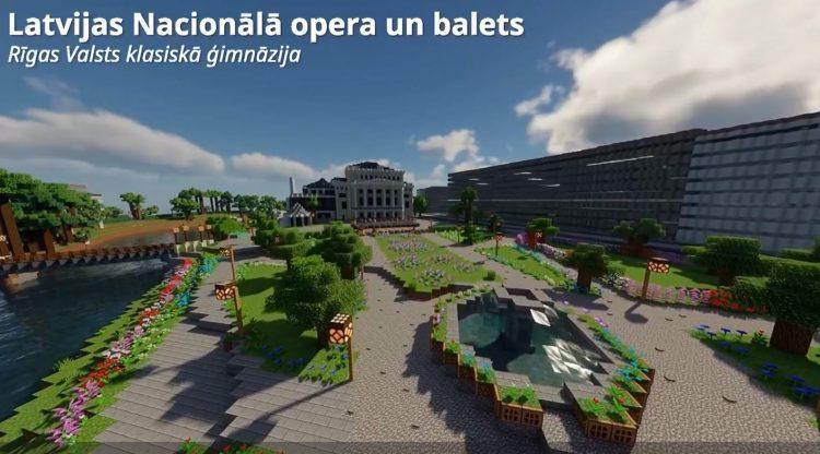 Pirmajās Minecraft būvēšanas sacensībās uzvar Rīgas Valsts klasiskās ģimnāzijas komanda