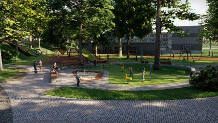 Aldara parkā uzsākti 3.kārtas būvniecības darbi