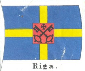 Rīgas tirdzniecības karogs, 1621. g. – 19. gs. 60. gadi