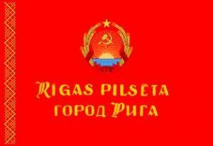 Rīgas pilsētas karogs 1970. gadā.