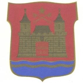 Arhitekta Ivara Strautmaņa veidotais Rīgas ģerbonis, 1967. g.