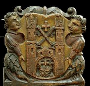 Rīgas ģerbonis heraldiskajās krāsās