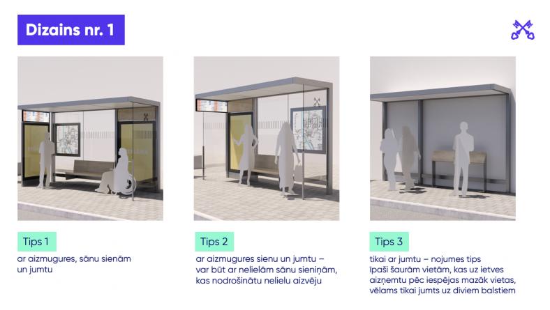 Pēc iedzīvotāju viedokļu apkopošanas turpinās Rīgas sabiedriskā transporta pieturvietu jaunā dizaina izstrāde