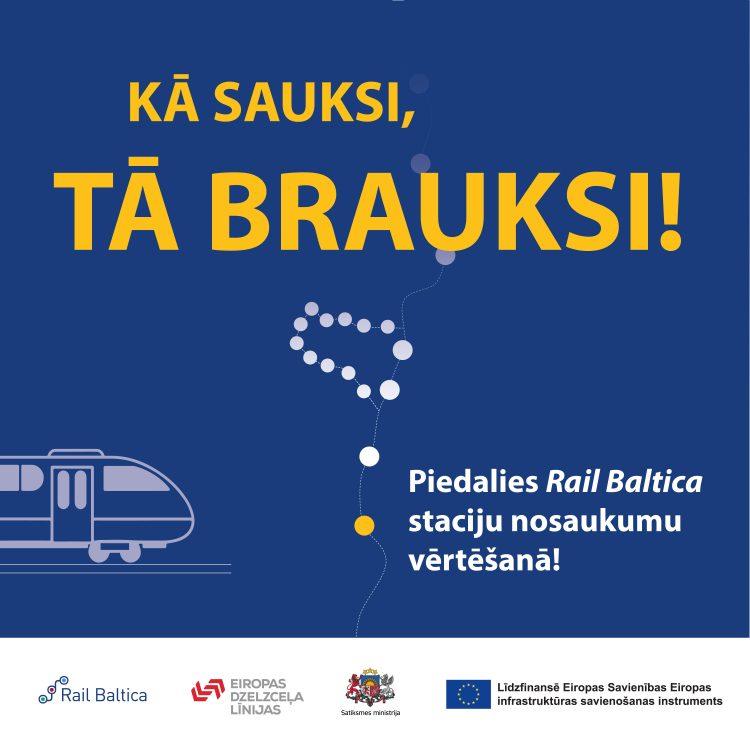 Aicina balsot par topošo Rail Baltica staciju nosaukumiem